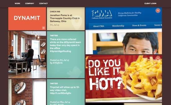 dynamit website design