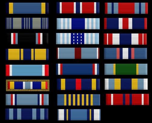 Air Force Ribbons Brush Set