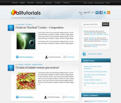 All tuts Free Pro Blog Theme