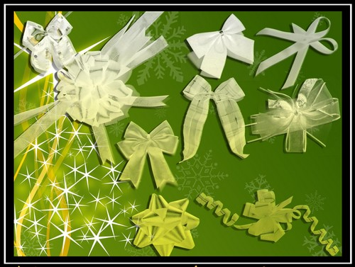Annfrost Stock Bows free ribbon brushes