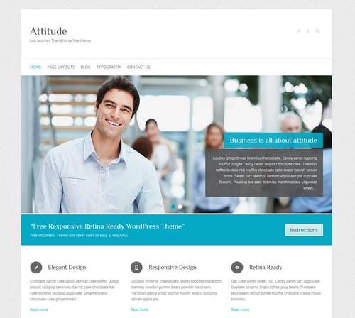 Attitude free WordPress blog themes