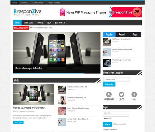 Bresponzive WordPress Blog Template