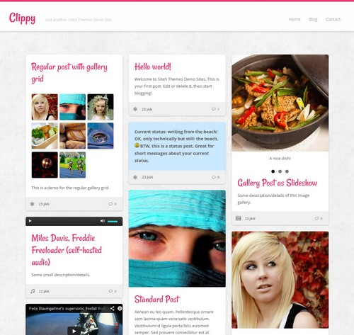 Clippy Free Blog Personal Theme