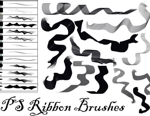 Dark Zeblock PS Ribbon Brushes
