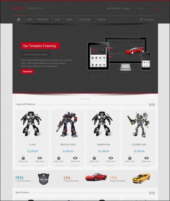 E-Car-Responsive-VirtueMart-e-Commerce-Template