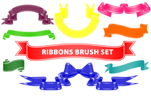 Fiftyfivepixels Ribbons PS Brushes