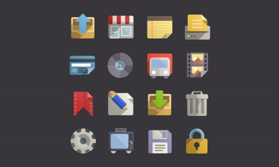 Flat Design Icons Set Vol3