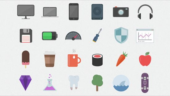 Flatilicious – 48 Free Flat Icons