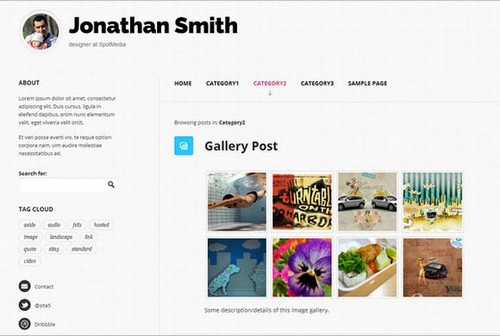 Focused free WordPress blog themes