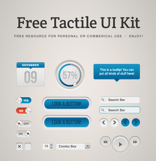 Free Tactile UI Kit