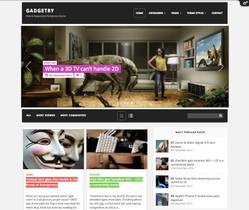 Gadgetry Free Theme for WordPress
