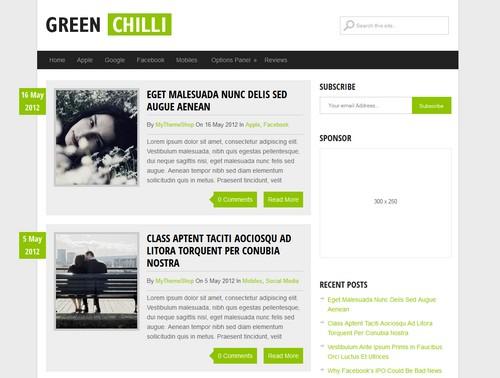 Green Chilli Theme