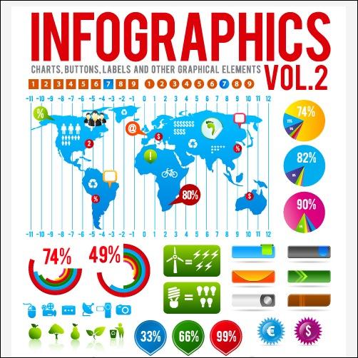 Infographics with Economy Elements Vector Graphics