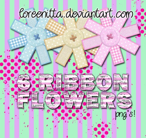 Loreenitta Ribbon Flowers png