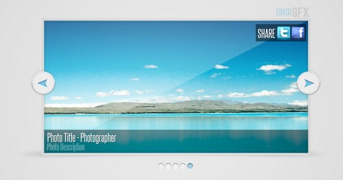 Photo slider PSD Design
