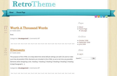 Retro Blog Free Template