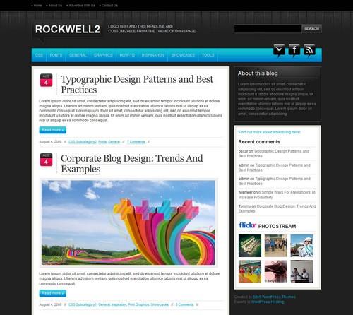 Rockwell Dark free WordPress blog themes