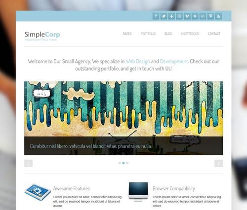 SimpleCorp Corporate and Portfolio Theme