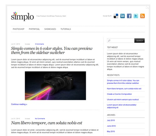 Simplo Personal Blog Theme