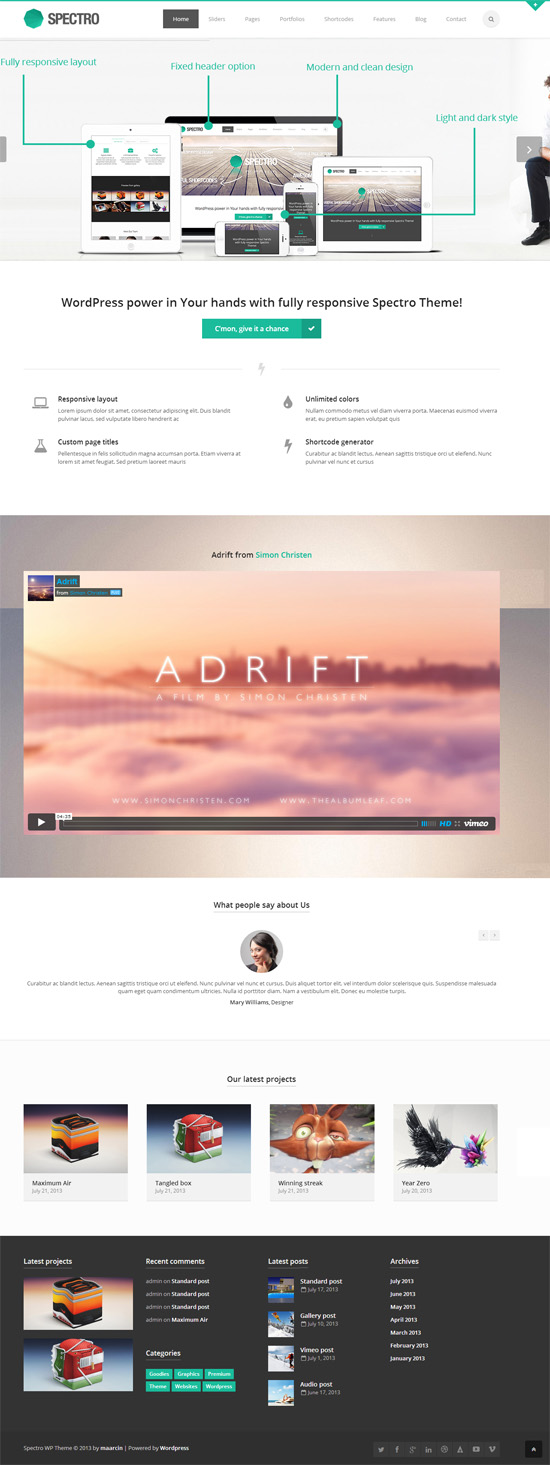Spectro - Responsive Multi-Purpose Theme