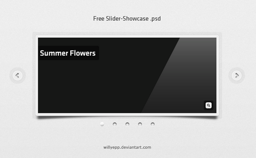 Summer flowers PSD