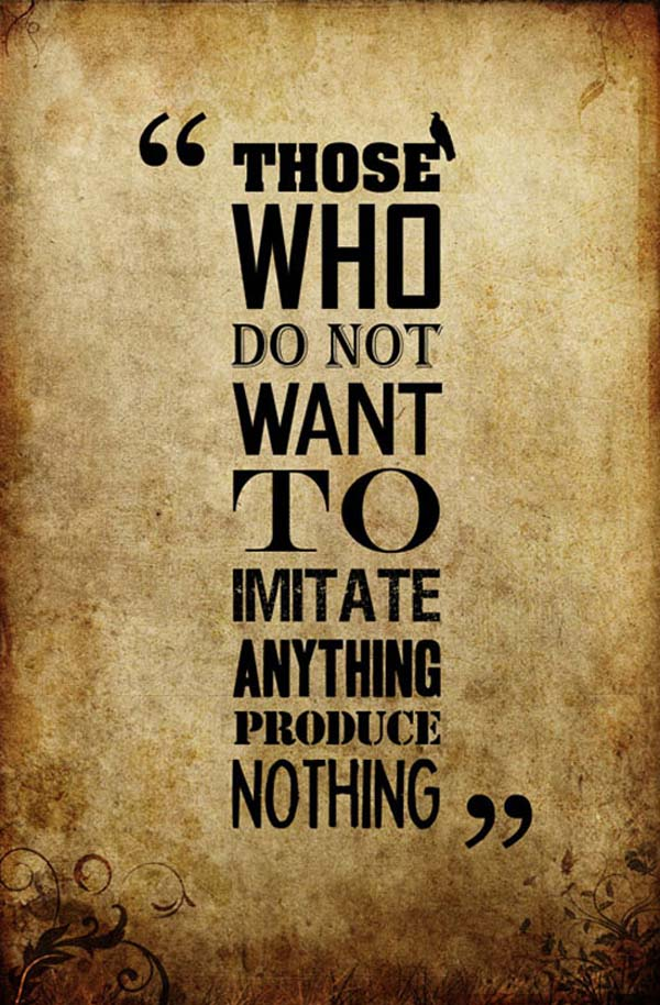 Those who do not want to imitate