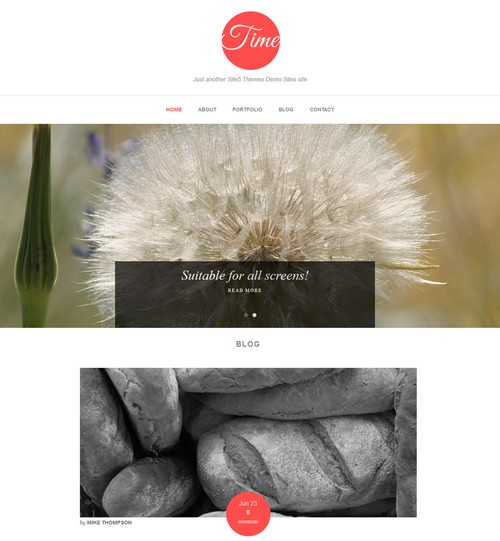 Time WordPress Blog Theme