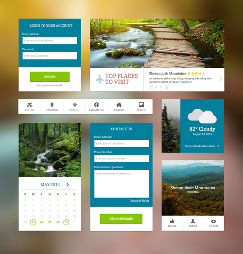 25 Free User Interface Web Elements