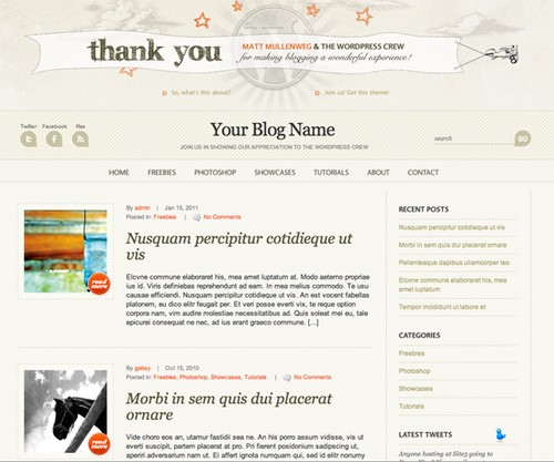 WP Anniversary Theme for Bloggers
