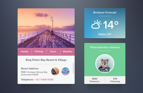 Widgets set Slider