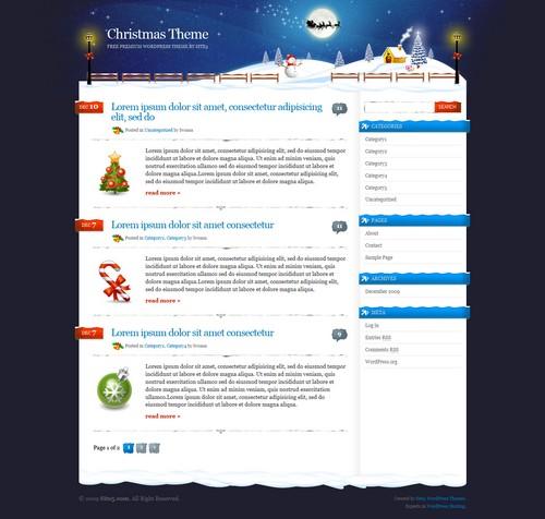 Xmas Free WP Blog Template