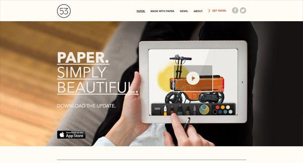 Inspirational Showcase of iPhone App Website Designs