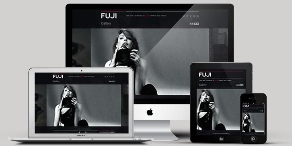 black and white portfolio retina responsive wordpress theme