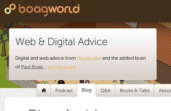 Boagworld web design blog top blogs follow