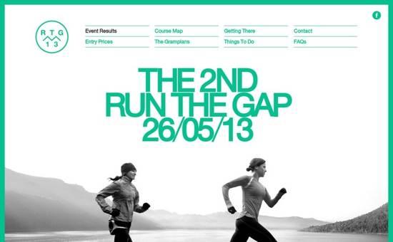 run the gap website design
