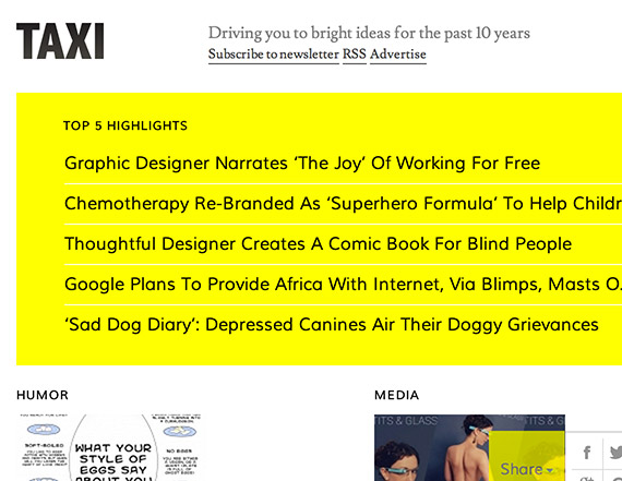 Designtaxi web design blog top blogs follow