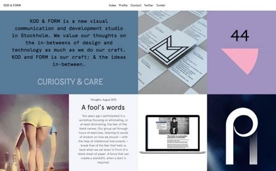kod & Form website design