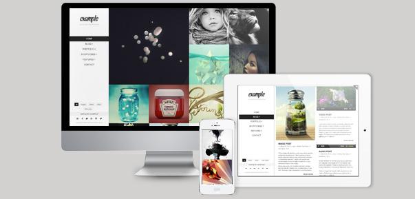 example retina responsive wordpress theme