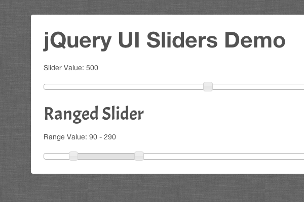 jquery ui sliders inputs form