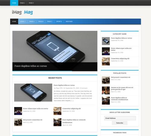 iMag free WordPress blog themes