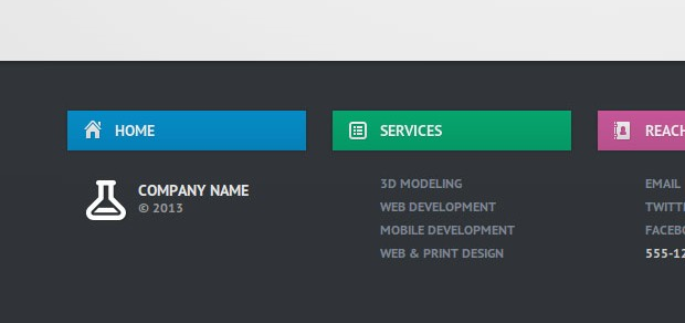 Create a slide-out footer with this neat z-index trick