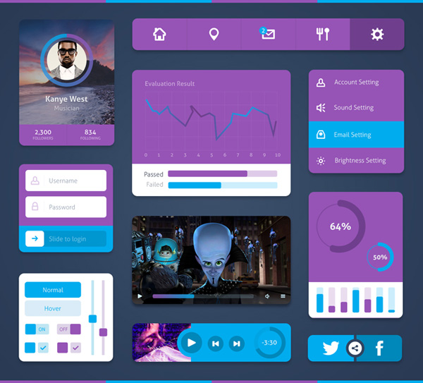 New free website graphics: Minimal UI Kit