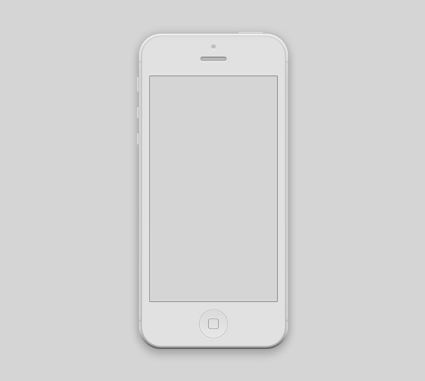 New free website graphics: iPhone 5 Mockup PSD