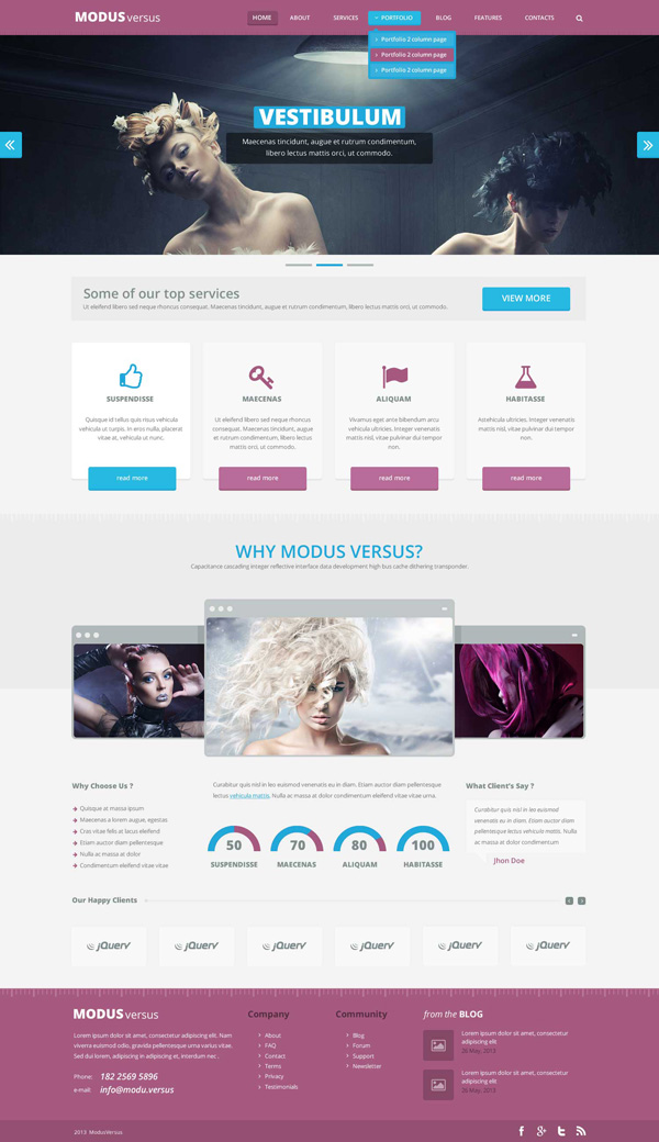 New free website graphics: Free PSD Template: Modus Versus