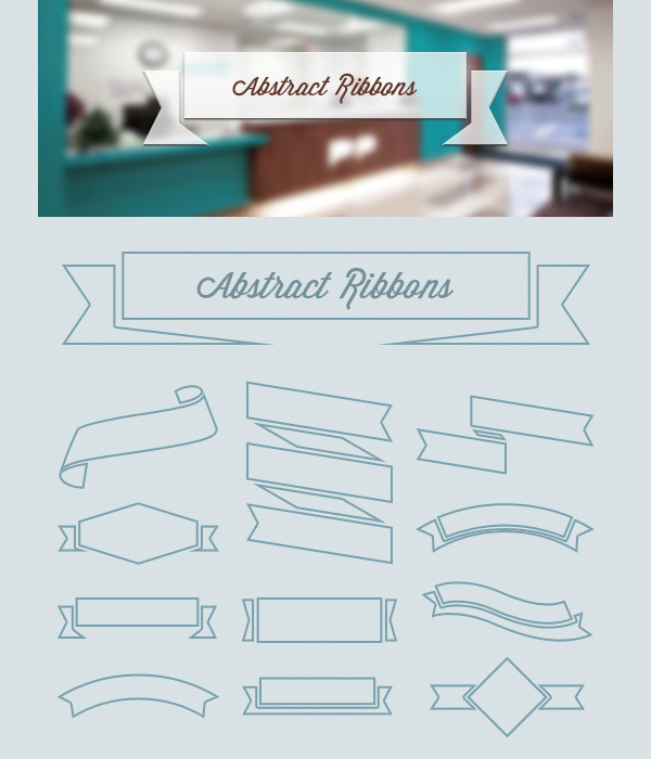 New free website graphics: Abstract Ribbons (PSD & Vector)