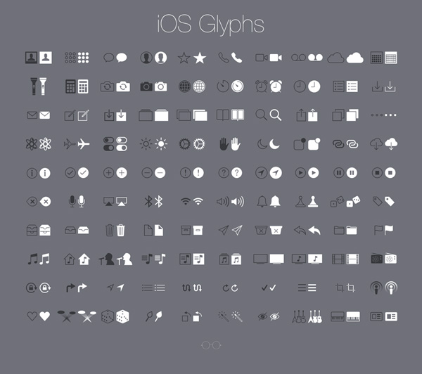 New free website graphics: iOS Glyphs