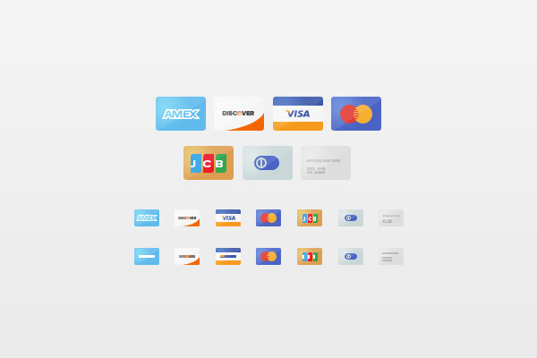 New free website graphics: Credit Card Icons