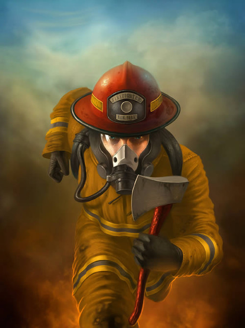 Create a Heroic Firefighter Painting in Photoshop