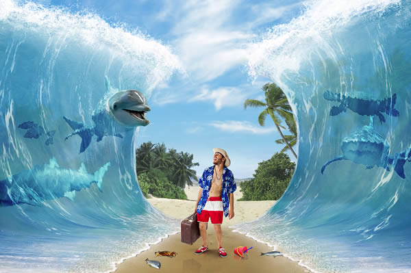 Create a Surreal Parting of the Sea Photo Manipulation