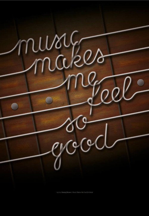 Use Photoshop and Illustrator to Create Guitar String Typography